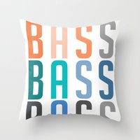 bass Throw Pillows featuring BASS BASS BASS by DropBass