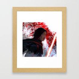 Angry Kylo Framed Art Print