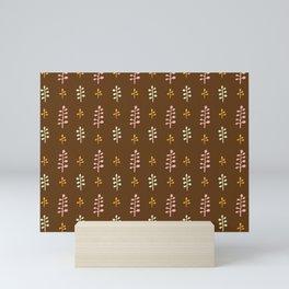 San Vincent floral design brown Mini Art Print
