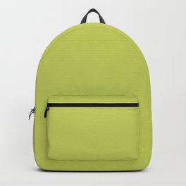 Tropical Dark Lime Green Yellow Solid Color Accent  Backpack