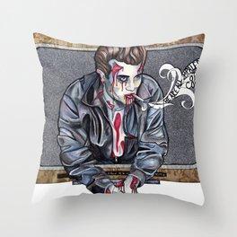 Zombie James Dean Throw Pillow