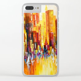 Sunny Los Angeles Clear iPhone Case