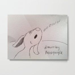 Pup Howling Metal Print