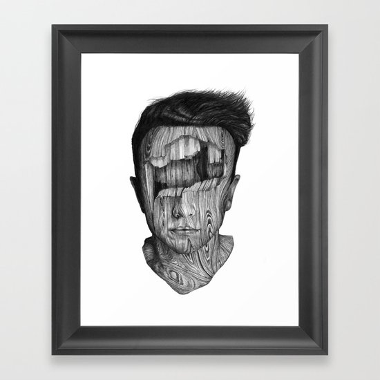 wood kid Framed Art Print