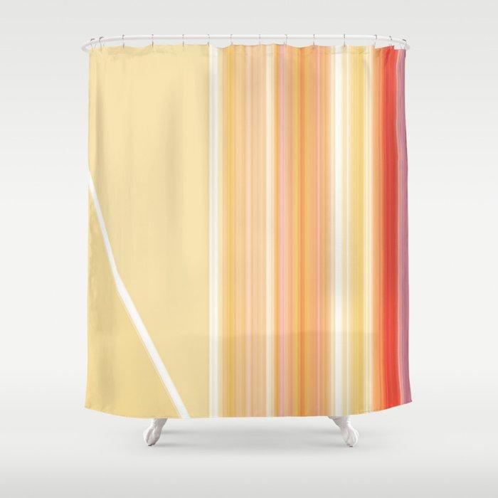 Yellow Orange Ray Stripes Shower Curtain By Artaddiction45