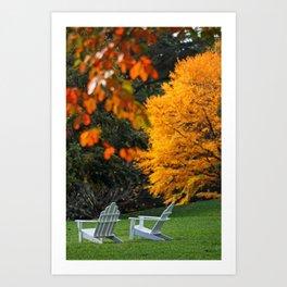 Autumn Adirondacks Art Print