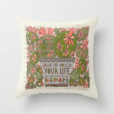 Touch the Holes in Your Life...(Grow Free Series) Throw Pillow