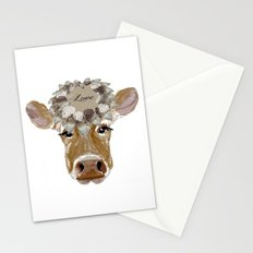 Cow with Love Hat Stationery Cards