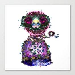 Beasts of Botanica - Black Mourning Bride's Extravagant Wedding Canvas Print