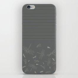 Dragonfly Pattern on Warm Grey iPhone Skin