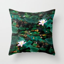 Lotus - A Pattern Throw Pillow