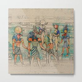 Egyptian Gods on canvas Metal Print