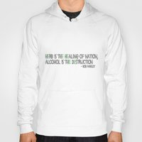 alcohol Hoodies featuring HERBS AND ALCOHOL by Jodie's