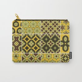 Yellow and Brown Floor Tile Carry-All Pouch