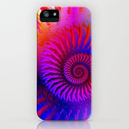 Rainbow Psychedelic Hippie Fractal Art iPhone Case