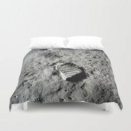 Boot Print on Moon Duvet Cover