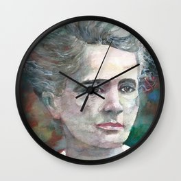 MARIE CURIE - watercolor portrait.2 Wall Clock
