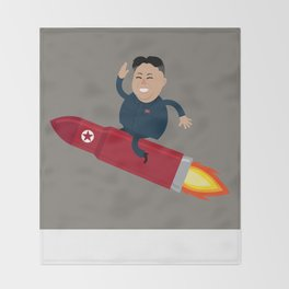 The Nuclear Rider Throw Blanket