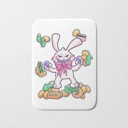 Easter Bunny Easter Egg Money gold gift Bath Mat