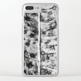 Weed leaf detail Clear iPhone Case