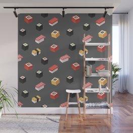 Isometric Sushi Pattern Wall Mural