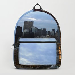 Chicago Skyline at Night Backpack