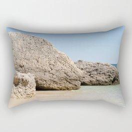 Rock from the beach of Arrabida, Setubal, Portugal. Rectangular Pillow