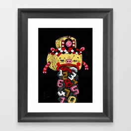 How much Time do we have left (CLOCK) Framed Art Print