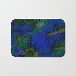 Peacock crystal mosaic Bath Mat
