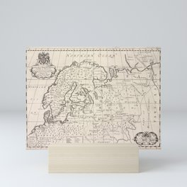 A new map of Denmark, Norway, Sweden, & Moscovy, shewing their present general divisions, cheif cities or towns, rivers, mountains &c.Additional Denma Mini Art Print