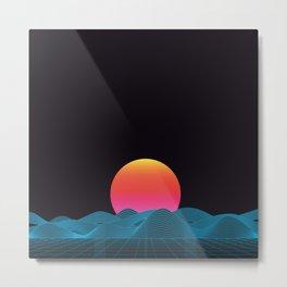 Computer sundown Metal Print
