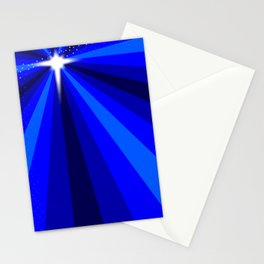 Blue Christmas Star Stationery Cards