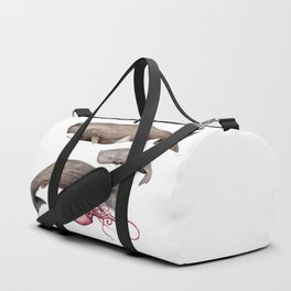 Sperm whale family Duffle Bag
