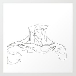 Line XIII (male [collar]) Art Print