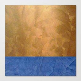 Copper Metallic With Tuscan Blue Stripe Trim Canvas Print