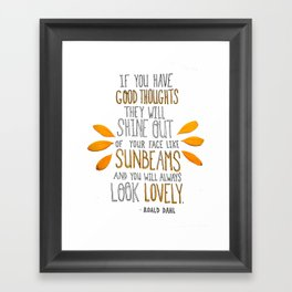 Sunbeams Framed Art Print