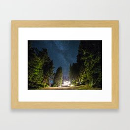 Lodge Under the Stars Framed Art Print