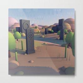 Totem Landscape Metal Print