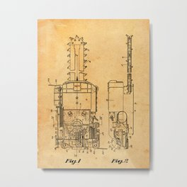 Mining Machine Metal Print