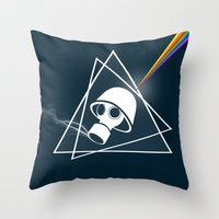 floyd Throw Pillows featuring pink Floyd  by mark ashkenazi