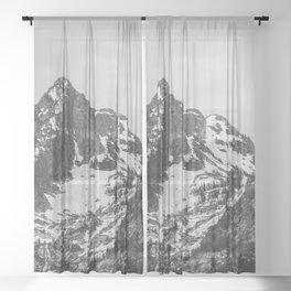 Grand Teton National Park - Wanderlust Adventure IV Sheer Curtain