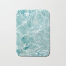 Clear blue water | Colorful ocean photography print | Turquoise sea Bath Mat