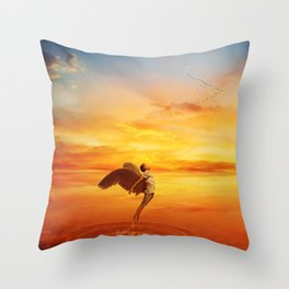 leaving your world Throw Pillow