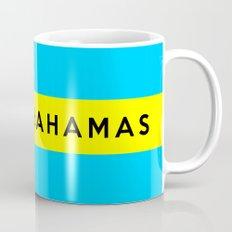 bahamas country flag name text Mug