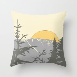 Ski Mountain Sun and Trees - Breckenridge  Throw Pillow