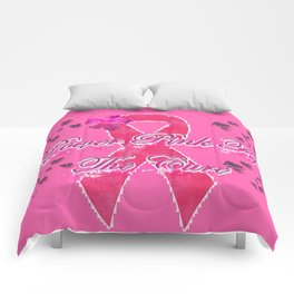Power Pink for the Cure - Butterfly Blitz Comforters