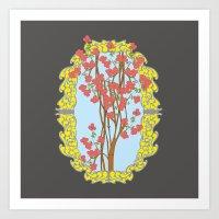 frame Art Prints featuring Frame  by nandita singh