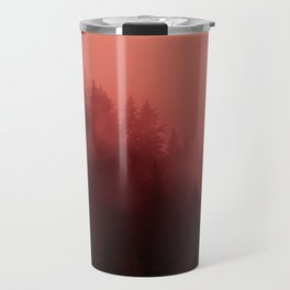 0366 Chocolate Forest with Living_Coral Fog, AK Travel Mug
