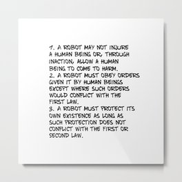 Three Laws Metal Print