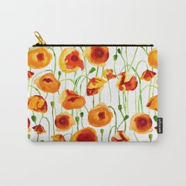 Poppy Sunrise Carry-All Pouch
